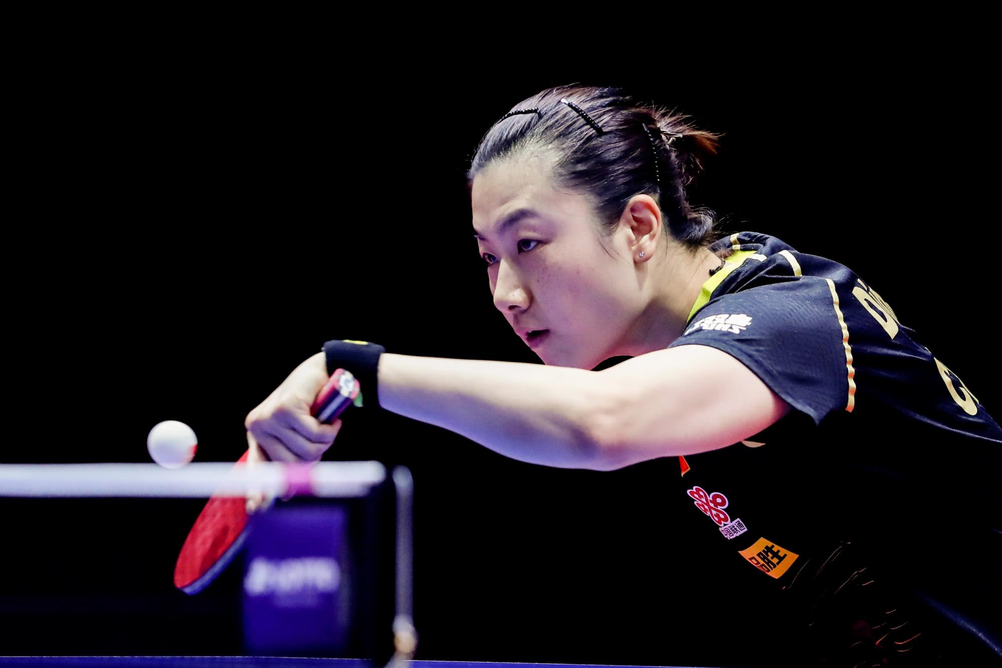 2020年德国公开赛女单半决赛,两名中国球员丁宁和王曼昱的对决