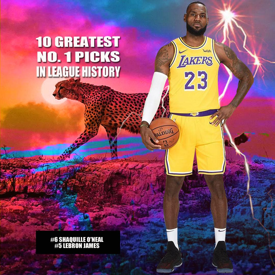 美媒评NBA前十状元,詹姆斯第5奥胖第6,两位五冠王包办前二