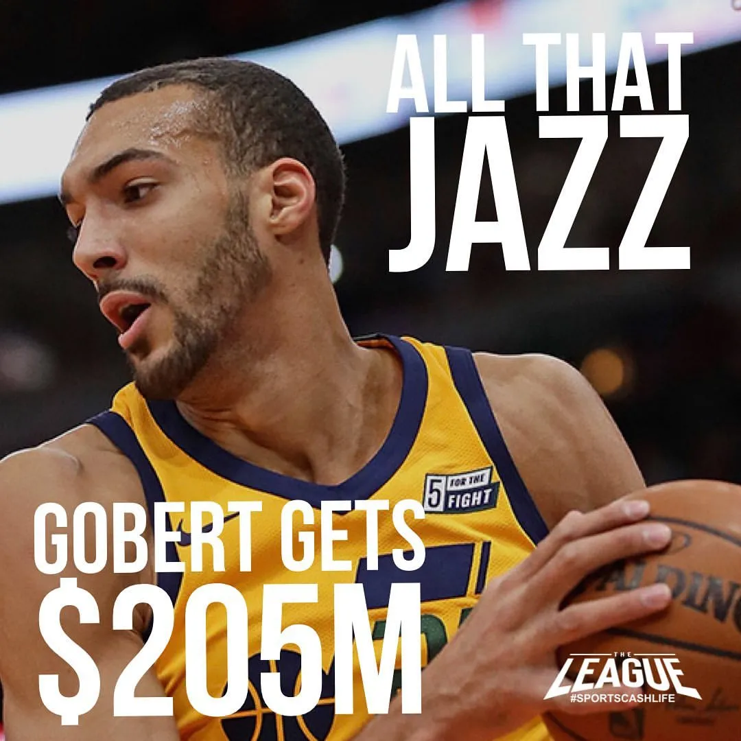 NBA历史上第三大合同!戈贝尔的顶薪之路