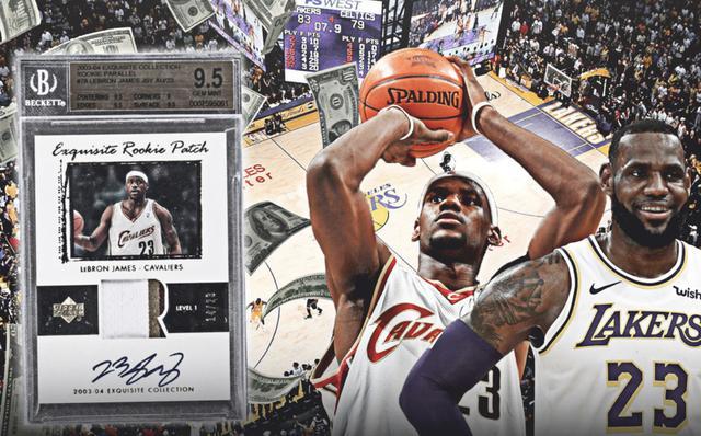詹姆斯新秀赛季球星卡拍出180万美元天价,明星效应可谓到达顶级   