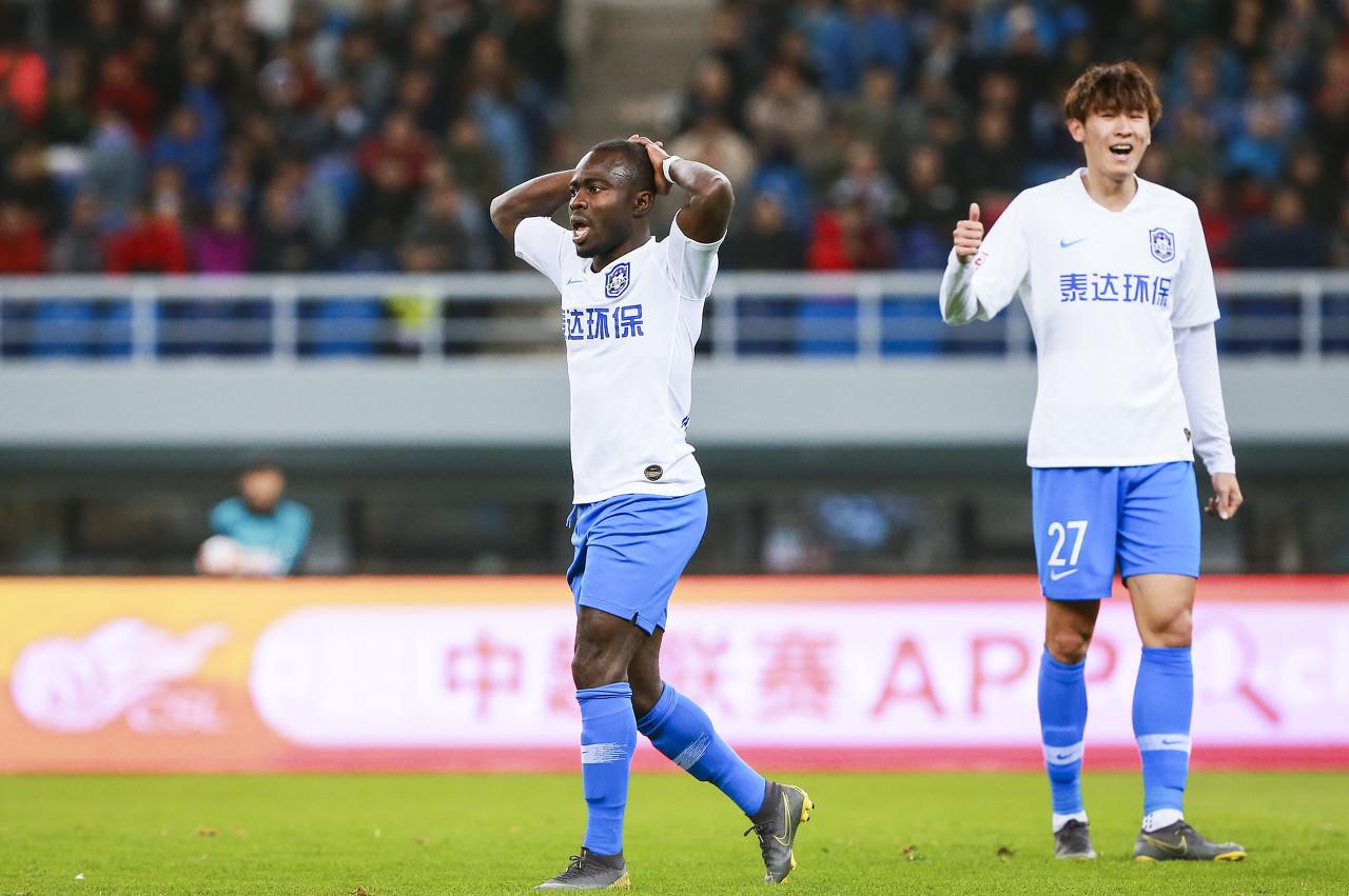 足球报:阿奇姆彭发函问询薪酬问题 津门虎球员都在等待收假消息