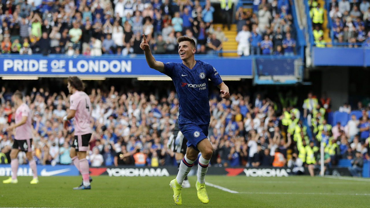 在切尔西1-0打败富勒姆的比赛中,芒特打进全场仅有进球