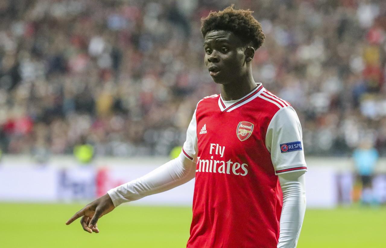 天空体育:萨卡成第4位在英超为阿森纳进球超5个的20岁以下球员