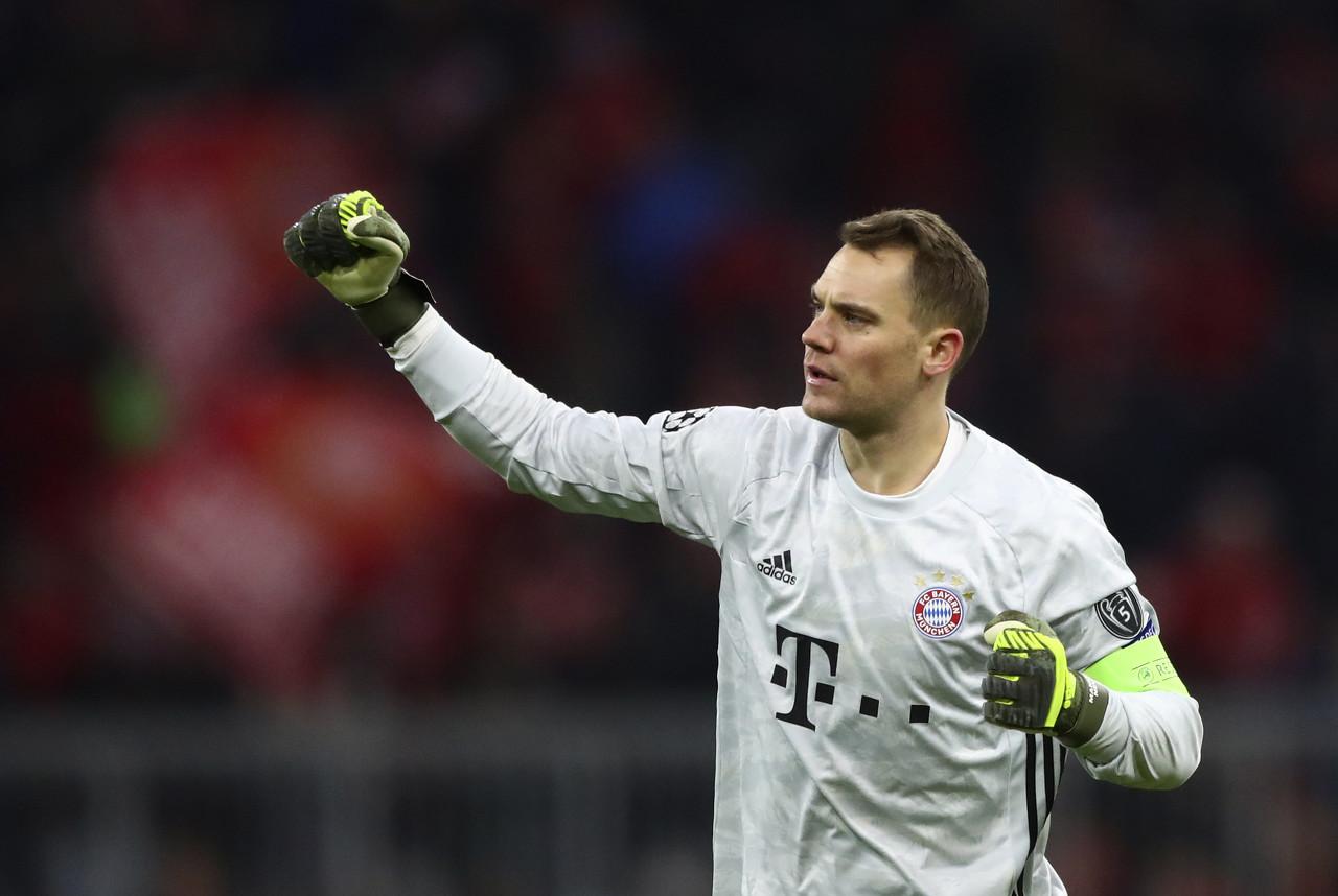 诺伊尔为拜仁出战261场德甲竞赛,拿到200胜