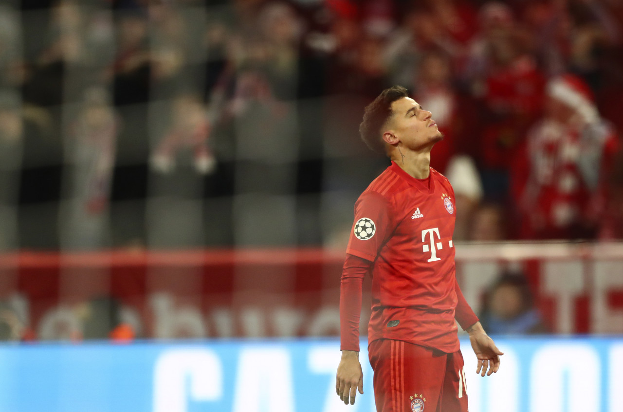 世体:库蒂尼奥将因伤再缺席6周,本赛季德甲可能无法再出战