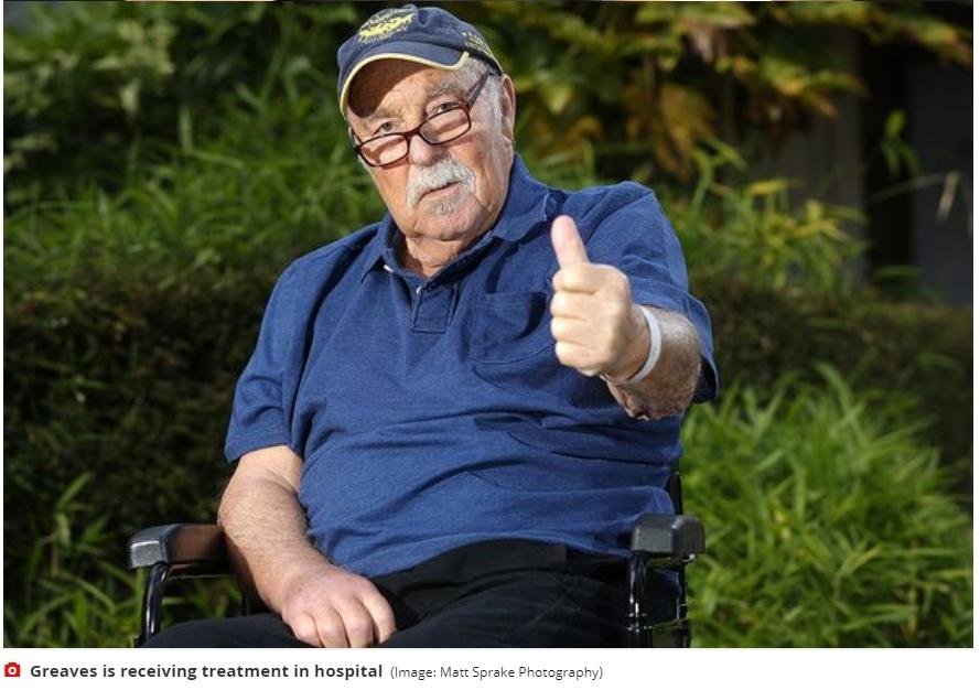 热刺名宿格里夫斯入院接受医治,家人证实与新冠病毒无关