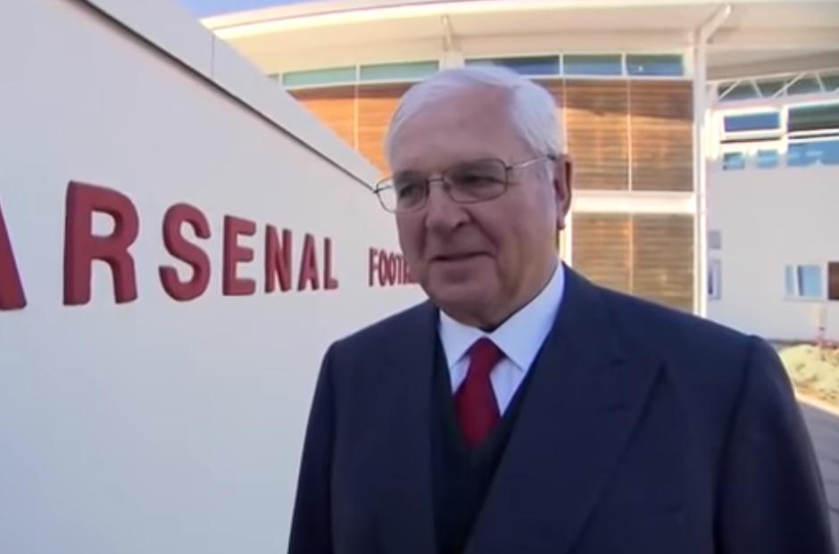 阿森纳主席奇普斯-凯瑟克正式卸职,80岁高龄退休 