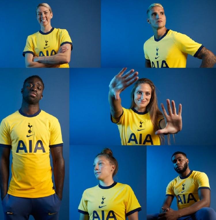 热刺发布20-21赛季第三球衣:黄色规划+海军蓝镶边问好经典