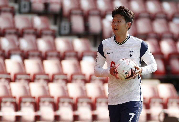 孙兴慜再次进球,本赛季至今,他8次进场已奉献9球4助攻  