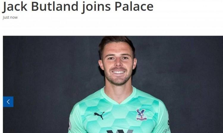 官方:水晶宫签下斯托克城门将巴特兰德,两边签约3年