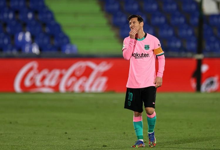 梅西本赛季西甲开赛以来以来只收成一粒进球,并且还是一粒点球  