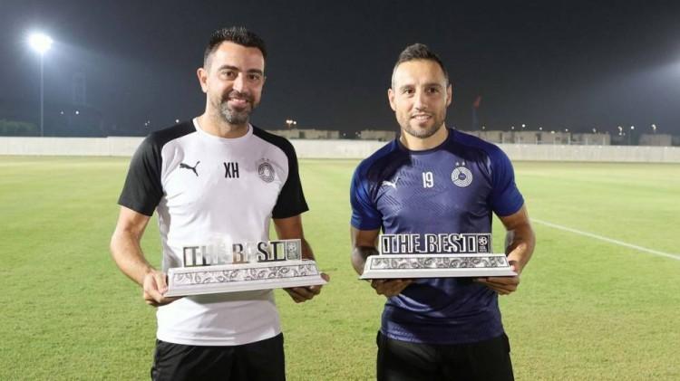 哈维卡索拉别离获得卡塔尔联赛九月十月的最佳教练和最佳球员