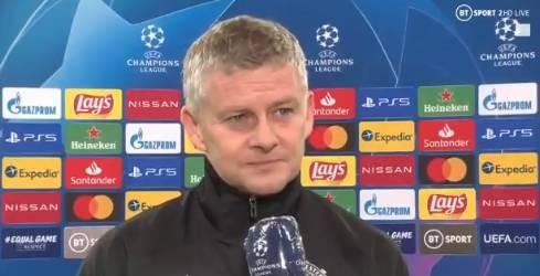 索尔斯克亚:我们开端的太晚了,球队展示了很好的精神状态