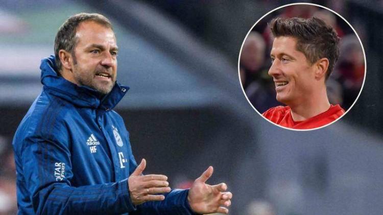 弗里克:拜仁会努力坚持连胜状况 期望莱万本赛季德甲能进40球 