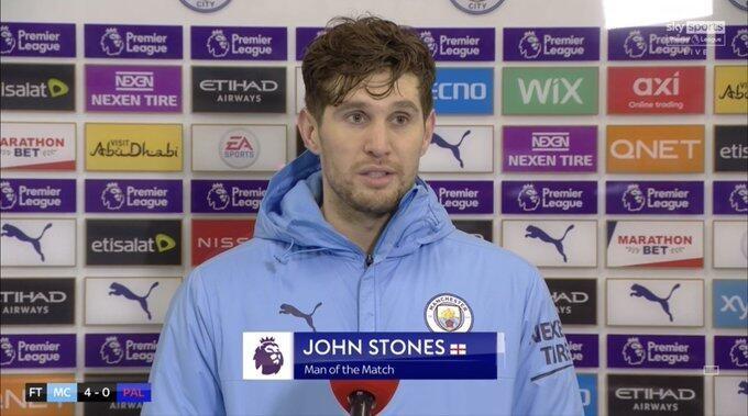 斯通斯:我还想进第三球 今日咱们离英超冠军又近了一步 