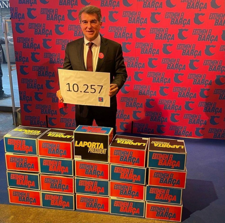 拉波尔塔已获超1.2万个会员签名,遥遥领先其他对手