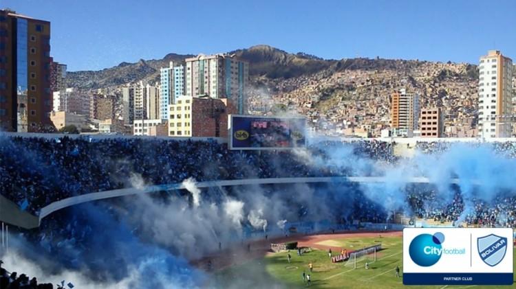 玻利维亚最大足球沙龙玻利瓦尔参加城市足球集团