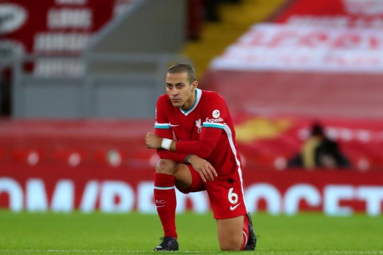 巴恩斯:蒂亚戈是利物浦最好的球员,球队需求时刻习惯他