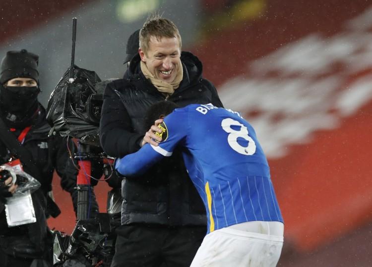 布莱顿主帅谈打败利物浦:梦幻的成果,咱们的体现接近完美 