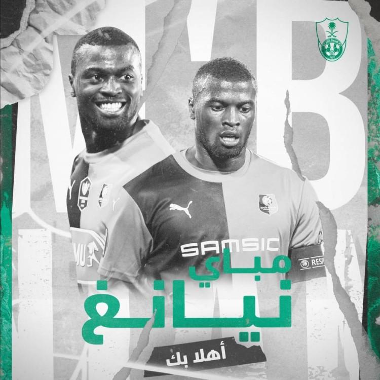 尼昂租赁加盟沙特球队吉达阿赫利至本赛季结束   