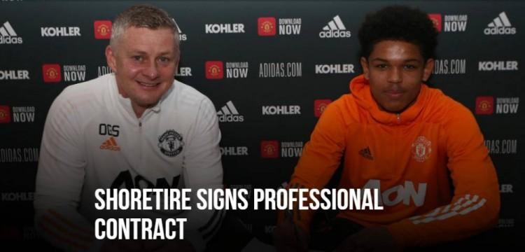 曼联与17岁前锋肖蒂雷签下工作合同,球员已为U23队征战 