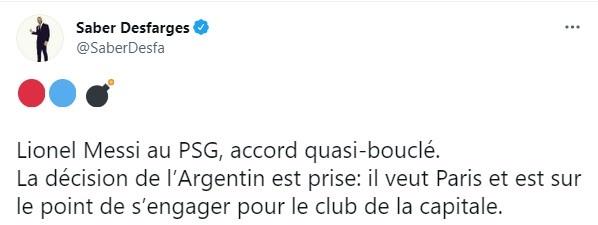 法国记者:梅西与巴黎几乎达成协议,他已决定加盟巴黎