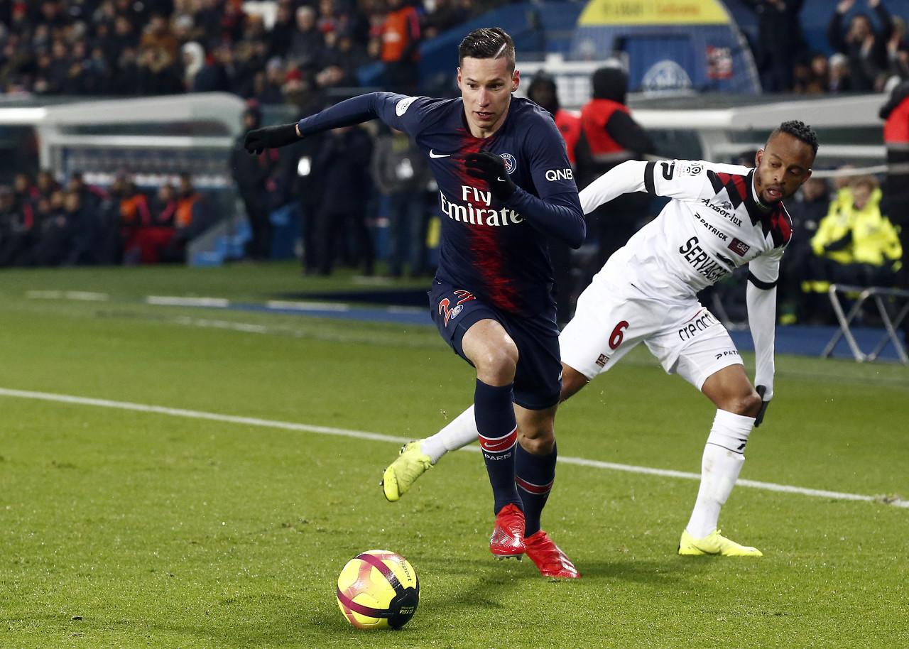 巴黎中场德拉克斯勒在本轮联赛中受伤,将缺席下周中的欧冠竞赛