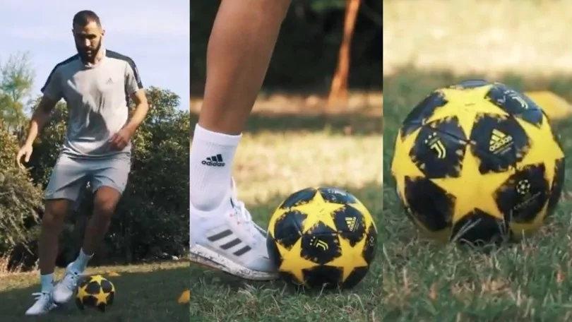 本泽马在外交媒体上发布的视频中出现尤文官方用球,引发球迷猜想