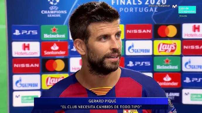 皮克:可以描述的词语只有羞耻 我第一个愿为球队换血而归队