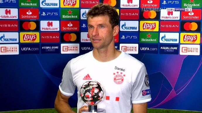 穆勒:球队状况很棒,本场拜仁有12-15名球员值得取得MVP奖杯