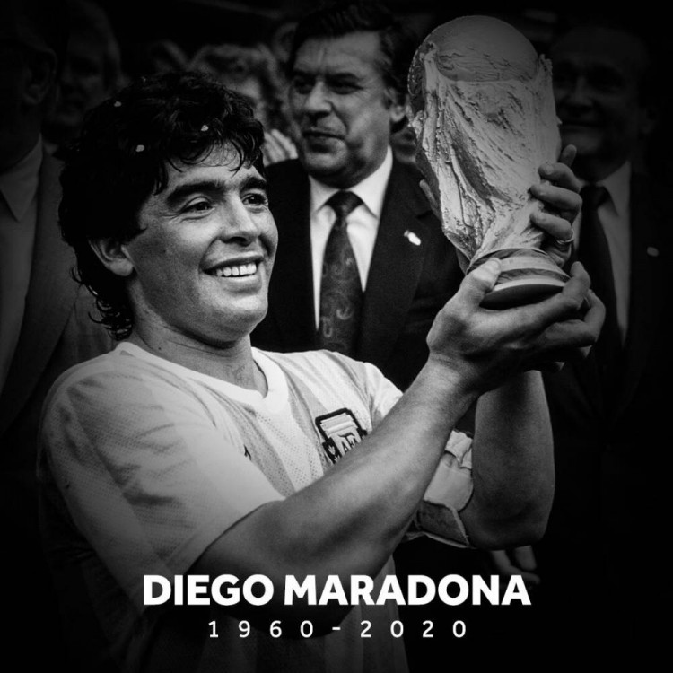 国际足联要求悉数211个成员协会赛前吊唁马拉多纳