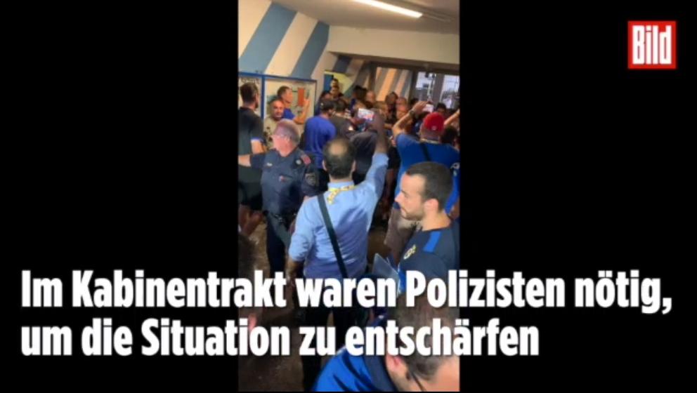 图片报:柏林赫塔和费内巴切赛后起冲突,警方加入参与