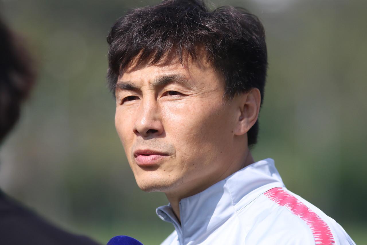 天海重视与国足选拔队热身,李玮锋:是队员证明自己的机会