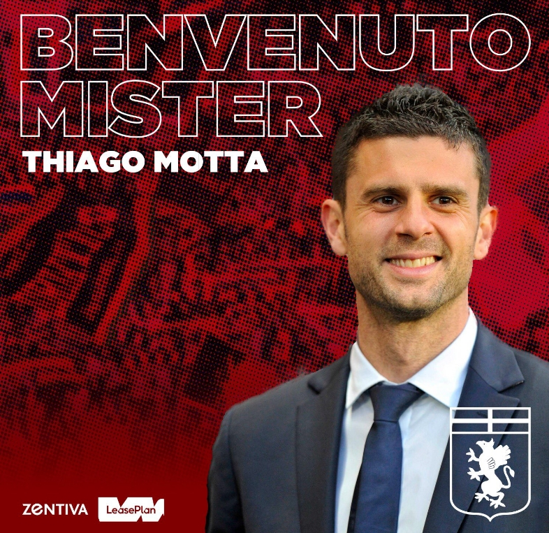 官方:蒂亚戈-莫塔出任热那亚新帅